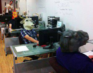 Trademark code animals hard at work