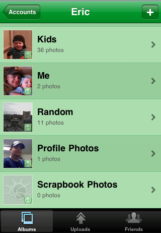 Photos to Google+ from iPhone using MyPics step 2