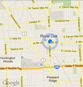 Google Map of Royal Oak