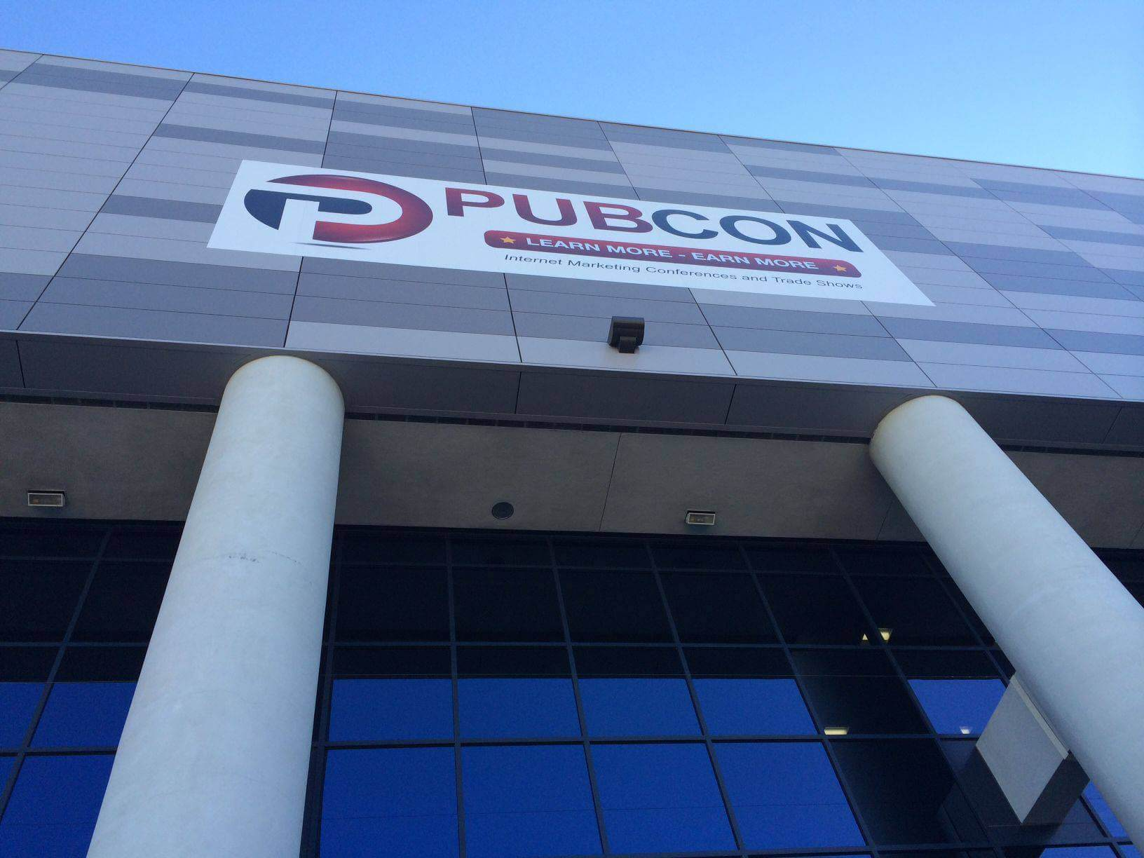 Pubcon outside banner pic