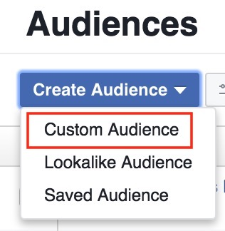 how to create custom audience in facebook