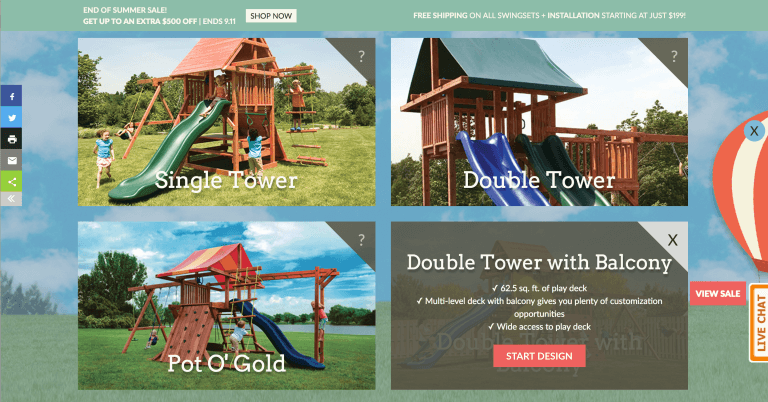 Design Your Own Swingset Series Details - Kids Creations | TMProd