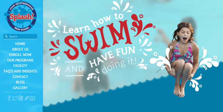 image of splash homepage design