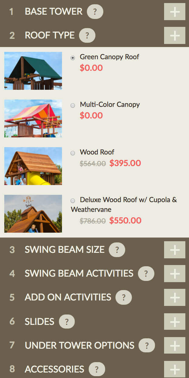 Design Your Own Swingset Options - Responsive - Kids Creations | TMProd