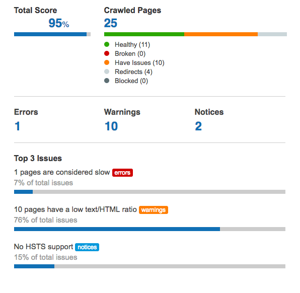 Example of a Free SEO Audit Tool