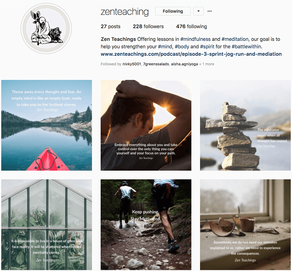 zen teachings instagram success