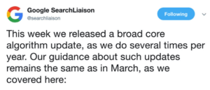 Google Summer Update 2018 Search Liaison