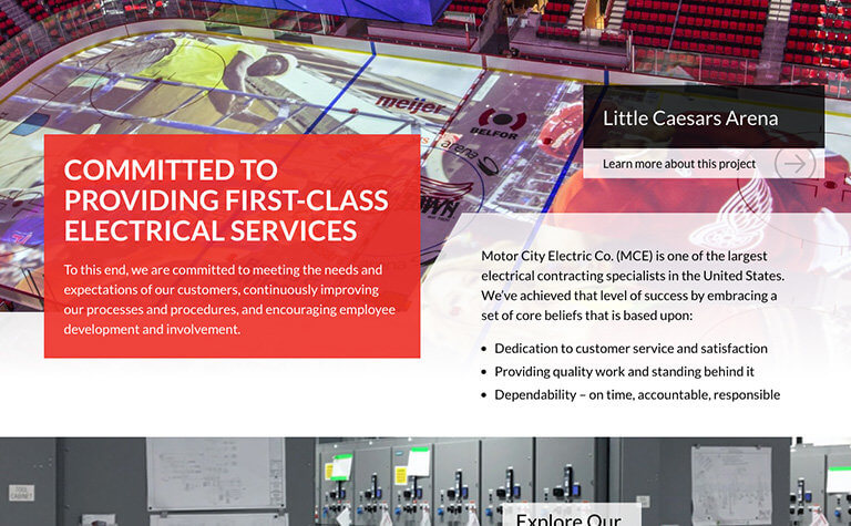 TM Portfolio - Motor City Electric - Homepage