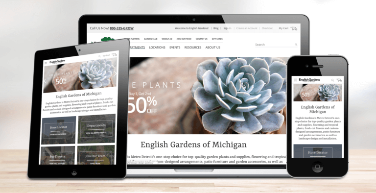 English Gardens Responsive on All Devices
