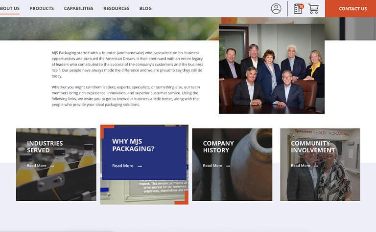 MJS Packaging Website