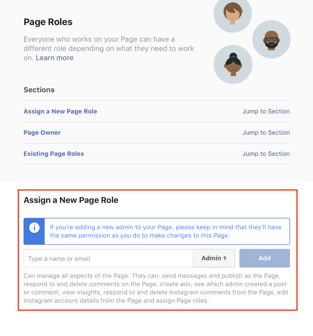 Facebook Gray Account – Page Roles