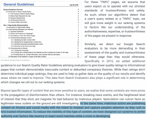 Google Disinformation Quality Guidelines