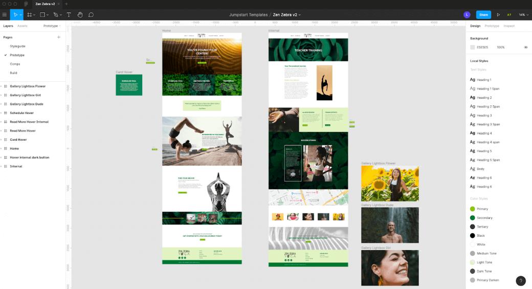 Figma design comp for one of Jumpstart's design frameworks   2020 Design Wrap Up