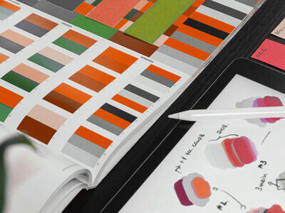 Pages of colors to review for a design | 2020 Design Wrap Up